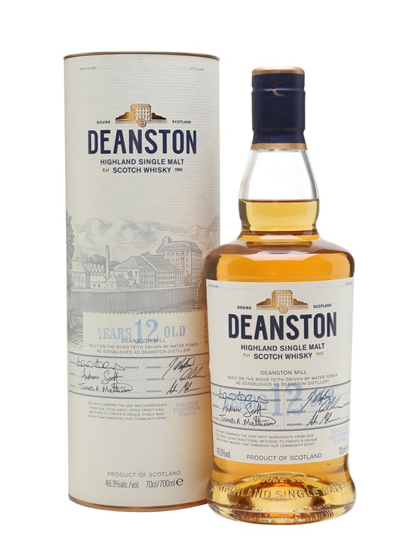 Deanston 12 Year Old Unchillfiltered Highland Scotch Single Malt Whisky
