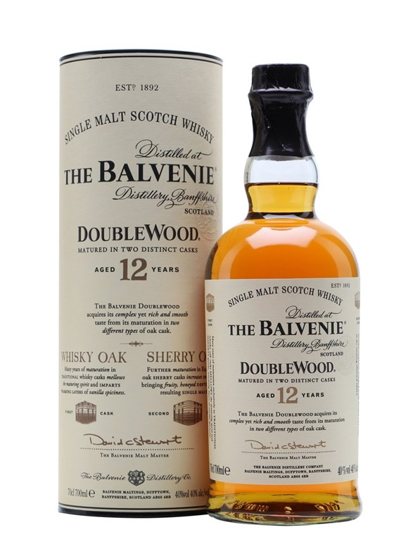 Balvenie 12 Year Old DoubleWood Speyside Scotch Single Malt Whisky