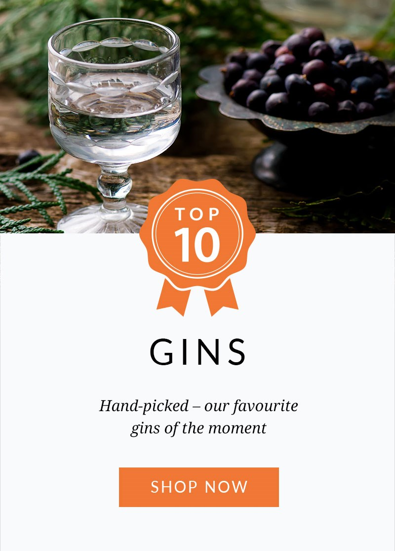 TOP 10 GINS  Hand-picked – our favourite gins of the moment.  SHOP NOW >