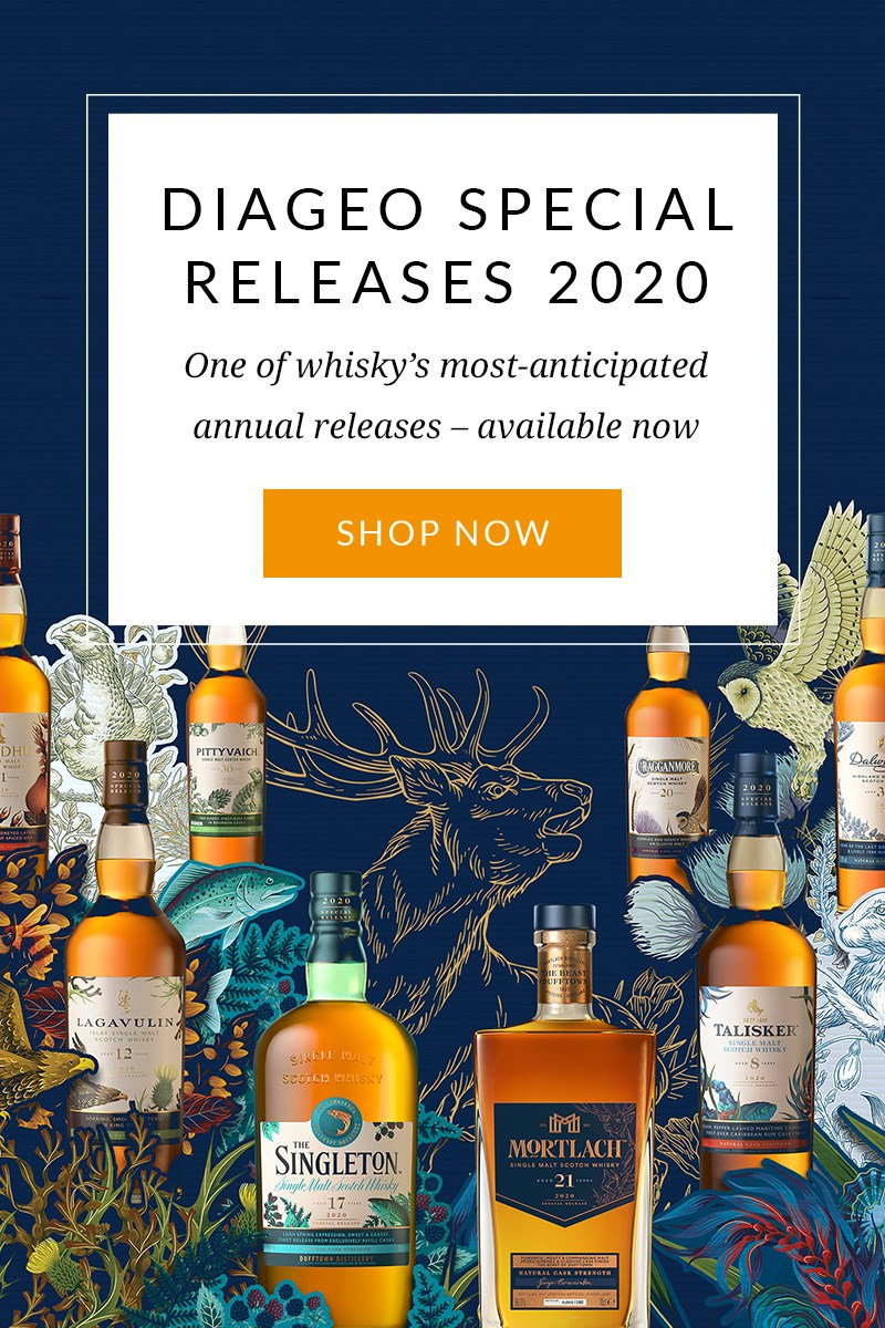 DIAGEO SPECIAL RELEASES 2020  One of whisky's most-anticipated annual releases – available now  SHOP NOW >