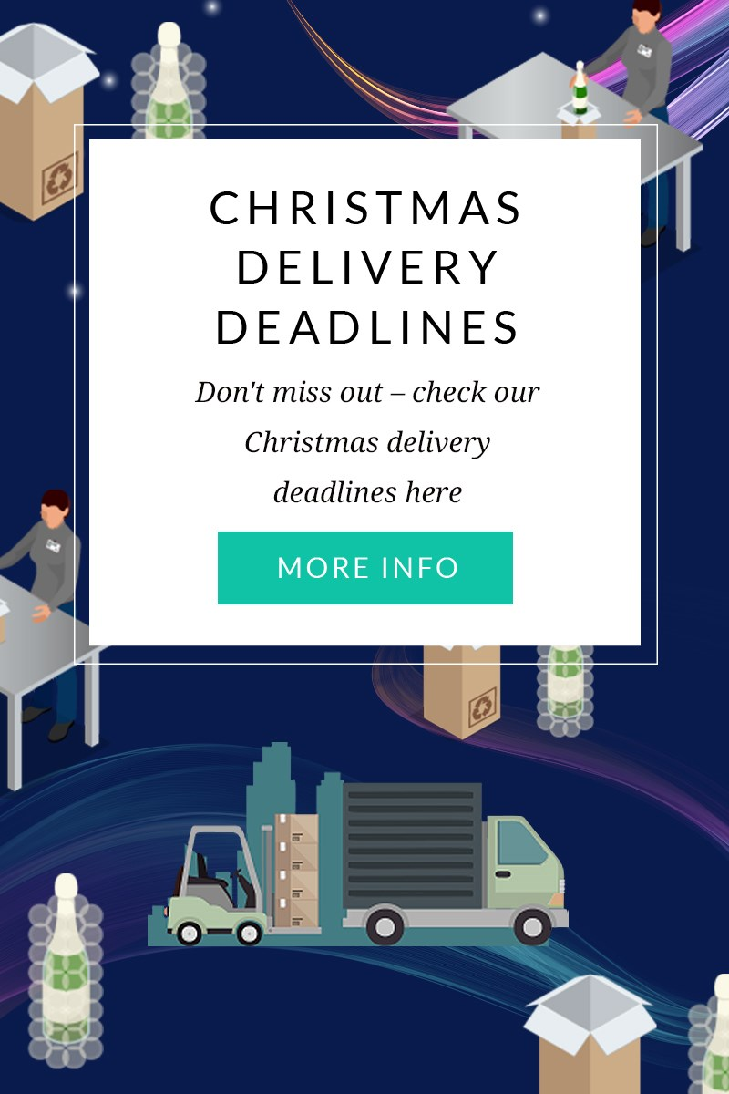 CHRISTMAS DELIVERY DEADLINES  Don't miss out – check our Christmas delivery deadlines here  MORE INFO >