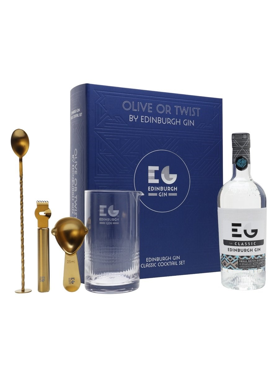 Edinburgh Gin Olive or Twist Cocktail Set